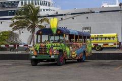 Bus funky della banana Fotografie Stock