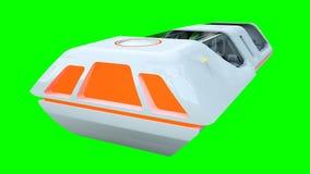 Bus futuristico di volo del passeggero Trasporto del futuro isolato della rappresentazione 3d illustrazione vettoriale