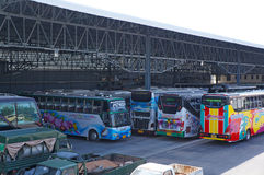 Bus garage Stock Photography
