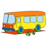 Bus giallo per i bambini illustrazione vettoriale