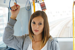 Bus girl Royalty Free Stock Images