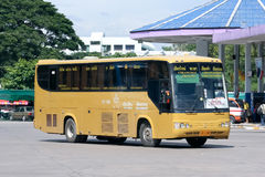 Bus of Green bus Company. Between Chiangmai and Chiangkhong. Royalty Free Stock Photo