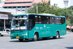 Bus of Green bus Company. Between Chiangmai and Thungchang (Nan) Stock Images