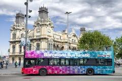 Bus guidé à Barcelone, Espagne photos libres de droits