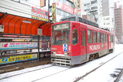 The bus of Hakodate. The bus in the city of Hakodate Royalty Free Stock Photo