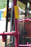 Bus handrail. Stock Photo