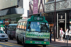 Bus in Hong Kong, Kowloon stock photo