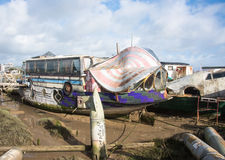 Bus House Boat Royalty Free Stock Photography