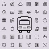 bus icon. Detailed set of minimalistic line icons. Premium graphic design. One of the collection icons for websites, web design, m stock illustration