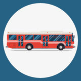 Bus icon flat design. vector city transportation. Royalty Free Stock Photo