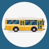 Bus icon flat design. vector city transportation. Royalty Free Stock Image