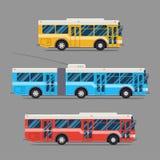 Bus icon flat design. vector city transportation. trolleybus Stock Photos