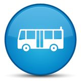 Bus icon special cyan blue round button Stock Image