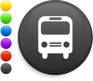 Bus icon on round internet button Royalty Free Stock Image