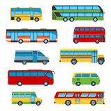 Bus icon set Stock Photography