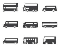 Bus icon set Royalty Free Stock Photo