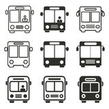Bus icon set. Bus vector icons set. Black illustration isolated on white background for graphic and web design Stock Illustration