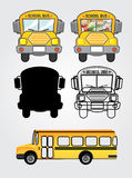 Bus icons. Over white background vector illustration Stock Photos