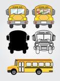 Bus icons Stock Photos