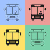 Bus icons. Set of black bus icons. Vector illustration stock illustration