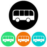 Bus icons Stock Photography