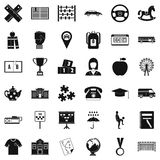 Bus icons set, simple style. Bus icons set. Simple style of 36 bus vector icons for web isolated on white background stock illustration