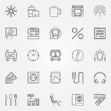 Bus icons set Stock Images