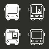 Bus icons set. Bus vector icons set. White illustration isolated for graphic and web design Stock Photo