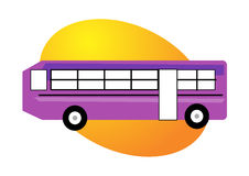 Bus illustration Stock Images