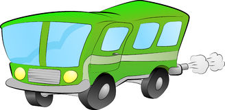Bus illustration Royalty Free Stock Images