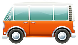 A bus. Illustration of a bus on a white background Royalty Free Stock Photo