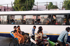 The bus in India royalty free stock images
