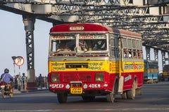 Bus indiano Fotografie Stock Libere da Diritti