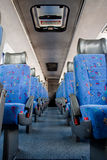 Bus Interior. Interior image of the cabin of a long distance bus or coach royalty free stock image