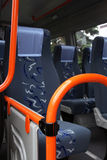 Bus interior. Royalty Free Stock Photo