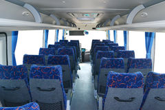 Bus interior. With modern decoration Stock Photo
