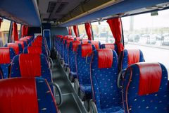 Bus interior Stock Image