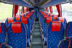 Bus interior Royalty Free Stock Photo