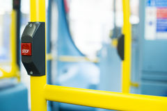 Bus Interior at public transport Royalty Free Stock Photos