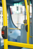 Bus Interior at public transport Stock Photo
