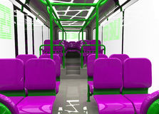 Bus interior. Render of  a modern urban commuter bus interior Stock Image