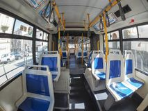 Bus interior in Turin Royalty Free Stock Images