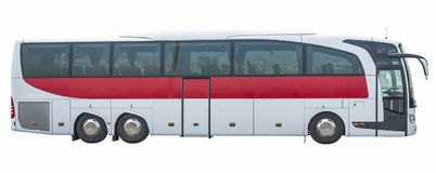 Bus on isolated white background. Side view Royalty Free Stock Photo