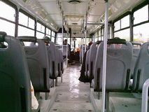 Bus of Istanbul. An indoor view of bus transportation from Istanbul / Turkey Stock Photography