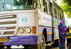 Bus, Jaipur, Rajasthan, India. Old indian bus waiting for its passengers Royalty Free Stock Photo