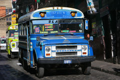 Bus in La Paz Royalty Free Stock Image