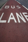 Bus Lane Royalty Free Stock Photography