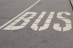 Bus lane. White Royalty Free Stock Image