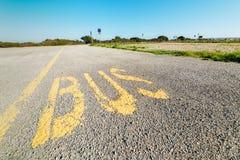 Bus lane in the country. In Sardinia Stock Photos