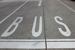 Bus lane Stock Images